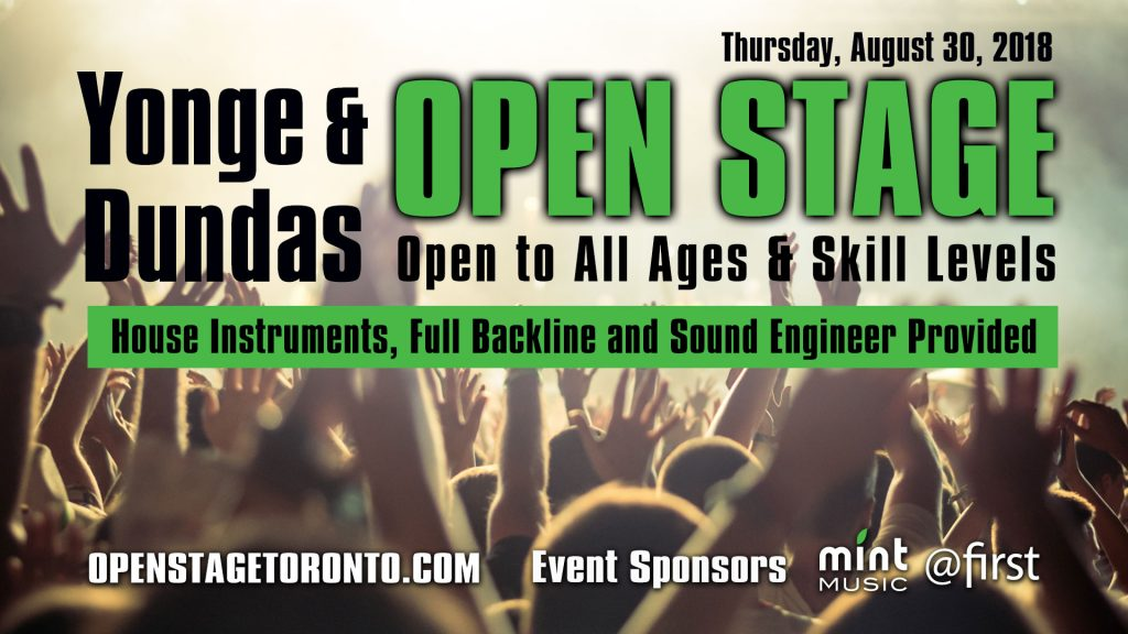 Yonge & Dundas Open Stage Banner